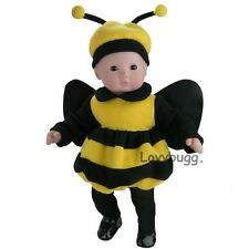 """Bumble Bee Costume Clothes for 15"""" Bitty Baby or 18"""" American Girl Doll Amazing"""