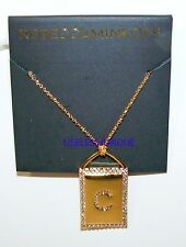 C Necklace With Rhinestones Rebecca Minkoff Plated Gold Initial