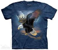 Bald Eagle American Flag Wings The Patriot The Mountain T-Shirt (1862) All Sizes