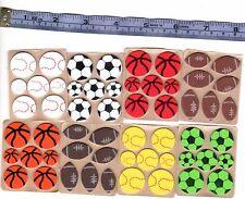 7 self adhesive foam stickers foot soccer basket tennis base balls 1.5cm - 2.2cm