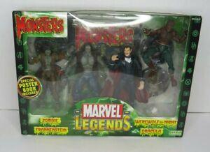 Monsters MARVEL LEGENDS Box Set Toy Biz Zombie Frankenstein Werewolf Dracula MIB