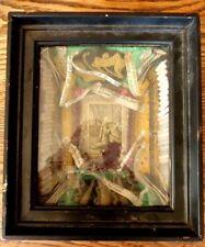 Superbe RARE ancien cadre reliquaire XIXème Saint paperolle cachet cire 2