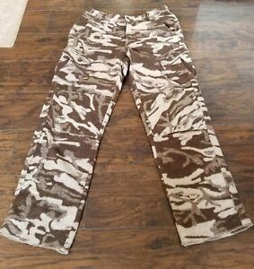 Thick Warm Columbia Wool PHG Gallatin Range Camo Camouflage Hunting Pants Sz.34