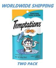 Temptations Cat Treats Tempting Tuna Flavor 3 Oz TWO PACK WORLDWIDE SHIPPING