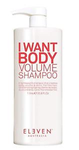 Eleven Australia I Want Body Volume Shampoo 33oz/1000Ml NEW! FRESH! FREE US SHIP