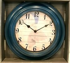 "Brand New Blue Mermaid Tail Wall Clock Round Clock 12"" 1 - Keyhole Mount"