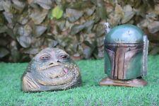 Star Wars Jabba The Hutt & Boba Fett Stone Garden Ornaments -Free UK P&P