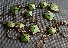 Kate Spade New York Neon Yellow Green Enamel Square Station Long Necklace $98