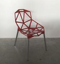 Magis Chair_One Konstantin Grcic Rot 5085 Stuhl Outdoor Aluminium poliert