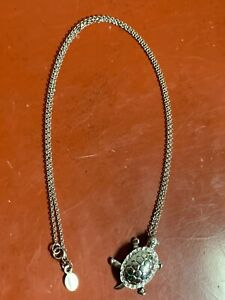 """TURTLE PENDANT AND CHAIN  IN STERLING SILVER BY WYLAND 18"""" CHAIN"""