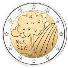 2 euros commemorative Malte 2019 Nature et Environnement UNC