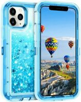 For iPhone 12 Mini Pro Max Shockproof Glitter Liquid Quicksand  Bling Cover Case
