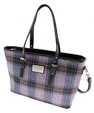 Ladies Harris Tweed  Pale Pink/Grey Spey Tote Bag Lb1028 COL34