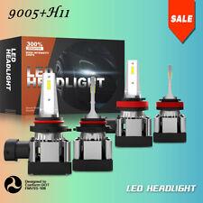 4x Combo H11 9005 HB3 LED Headlights Bulb High Low Beam 6000K 120W 9600LM JLG