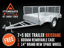 7x5 Trailer Hot Dipped Gal Box Trailer FREE CAGE & SPARE WHEEL Brisbane Qld