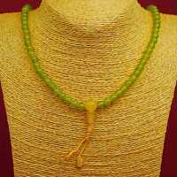 Mala Grün wunderschön Stupa Buddhismus Kette Halskette Schützer Nepal 101i
