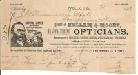 1893 Kellam & Moore, Atlanta Georgia Opticians Illustrated Billhead