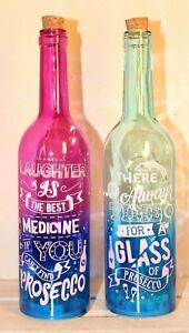 Light Up Bottles | Laughter is the Best Medicine / Prosecco Novelty - REDUCED