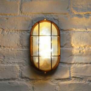 Solar Bulkhead Rustic LED Wall Light | Industrial Vintage Garden Party Outdoor