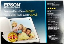 Epson Genuine Premium Photo Paper Glossy 4x6 68lb 100 Sheet Pack Ink Jet New