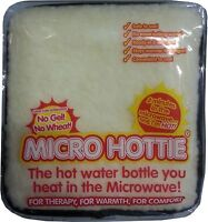 Hottie Microwave Hot Water Bottle No Water Fleece Lambswool Micro Hottie