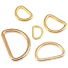 100 Pcs Assorted Multi-Purpose Metal D Ring Semi-Circular D Ring for Hardware Us