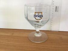 TRÈS RARE verre biere  blanche de Bruges BRUGS glas glass no duvel orval leffe