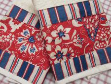 Ralph Lauren VILLA MARTINE REDl Decorator Fabric Custom Hand Towels SET