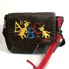 Dr. Suess By Trend Lab Brown/Red Nylon Diaper Bag ABCs Kids Baby Messenger