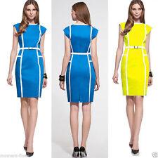 Cotton Blend Cap Sleeve Short/Mini Casual Dresses for Women