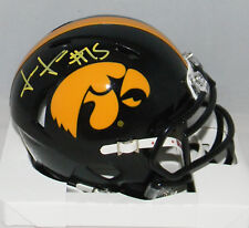 JOSH JACKSON AUTOGRAPHED SIGNED IOWA HAWKEYES SPEED MINI HELMET JSA