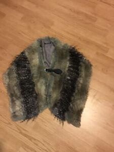 Topshop Faux Fur Wrap Shawl One Size