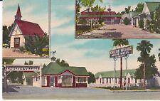 "El Centro CA ""The English Village Motor Hotel"" Linen Postcard California"