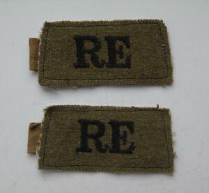 British Army WW2 Royal Engineers Cloth Shoulder Titles