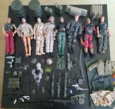 Huge vintage 1996 lot GI Joe 8 Action figures clothes accessories weapons 12""