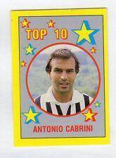 figurina IL GRANDE CALCIO VALLARDI 1988/89 NUMERO 309 TOP 10 CABRINI