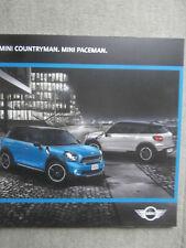 BMW Mini Countryman R60 +Paceman R61 Katalog Brochure März 2016 NEU