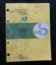 JOHN DEERE 1760 WING-FOLD DRAWN CONSERVATION PLANTER SERVICE REPAIR MANUAL GOOD