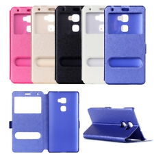 For Samsung Galaxy J5 J7 Note 8 Flip Silk Leather Wallet View Window Case Cover