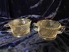 Vintage Federal Glass Diana Sugar & Creamer