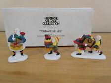 Dept 56 North Pole Accessory - Toymaker Elves - 3 Pc Set