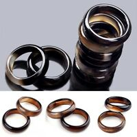 10Pcs Wholesale Lots Assorted Natural Gemstone Agate Band Rings Jewelry Gifts