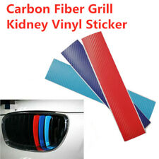 3 M-Colored Grill Carbon Fiber Strip Sticker Decal For BMW M3 M5 E39 E46 E60 E90