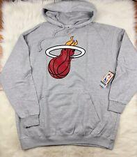 Miami Heat Pullover Gray Hoodie Big & Tall Men's 3XL MSRP $55 NBA