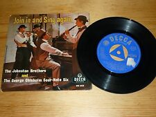 THE JOHNSTON BROTHERS - JOIN IN AND SING AGAIN 7 INCH SINGLE / RECORD VINYL 45