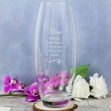 Personalised Heart and Swirls Glass Bullet Vase - Mum,Nan,Sister,Auntie- Gift