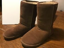 US womens size 8 Brown insulated Bearpaw Emma Suede boots Outdoor Winter Used