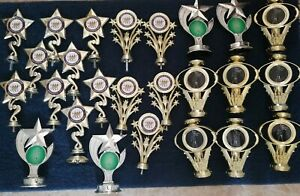 18 Silver & Gold STAR Performing Arts AWARD trophy Toppers (a80)