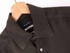 f099 Massimo Dutti Camisa Top Forrado Original Premium Marrón Talla M