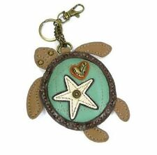 Chala Sea Turtle Key Chain Coin Purse Leather Bag Fob Charm